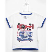 Camiseta Infantil Andritex Carros Masculina - Masculino-Branco