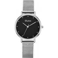 Relógio Lady Oulm Ht3671- Prata E Preto