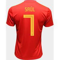 Camisa Seleção Espanha Away 2018 N° 7 Saúl - Torcedor Adidas Masculina - Masculino