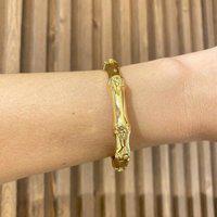 Bracelete Bambu Prata