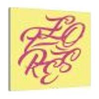 Placa Decorativa Flores Amarelo E Rosa