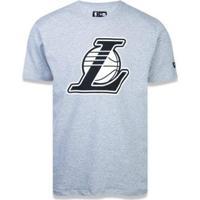 Camiseta Los Angeles Lakers Nba New Era - Masculino-Cinza