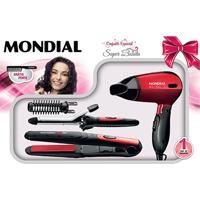 Kit Mondial Especial Super Bonita Prancha + Escova Modeladora + Secador Kt-53 Bivolt - Feminino