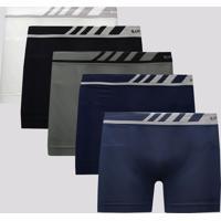 Kit De 5 Cuecas Boxer Lupo Microfibra