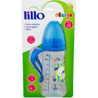Mamadeira Lillo Design Bico De Silicone Ortodôntico 6+ Meses Azul 300Ml