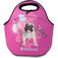 Lancheira Térmica Tritengo Em Neoprene I Love Pets Bulldog Francês - Unissex