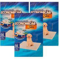 Kit 3X Tapete Higiênico Para Cães Economicão Slim 18 Unidades