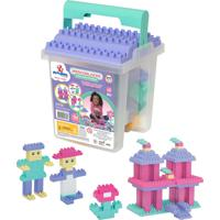 Blocos Didáticos Merco Toys Mercoblocks 110 Peças Menina Multicolorido