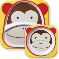 Set De Pratos Skip Hop Zoo Macaco Masculino - Masculino