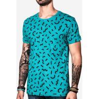 Camiseta Memphis Turquesa 100967