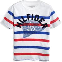 Camiseta Tommy Hilfiger Kids Menino Escrita Off-White