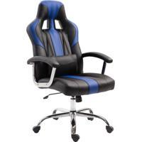 Cadeira Gamer Jaguar Preta E Azul