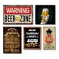 Kit Bar 3 Placas + Quadro Porta Tampas + Abridor De Garrafas C/ Imã Cerveja Mdf