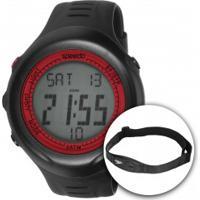 Monitor Cardíaco Com Cinta Speedo 58011G0Eg - Preto/Vermelho