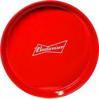Bandeja Budweiser Vermelha 35 Cm Antiderrapante