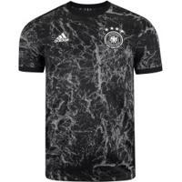 Camisa Pré-Jogo Alemanha 2020 Adidas - Masculina - Preto/Cinza
