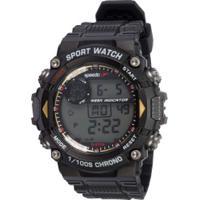 Relógio Digital Speedo 81193G0Ev - Masculino - Preto/Amarelo