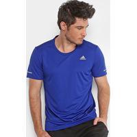 Camiseta Adidas Run Masculina - Masculino-Azul+Marinho