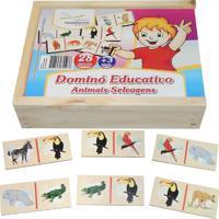 Dominó Educativo Educativo Animais Selvagens - Fundamental