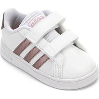 Tênis Infantil Adidas Grand Court - Unissex-Branco+Dourado