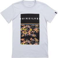 Camiseta Infantil Quiksilver Zen Division - Masculino-Cinza Claro