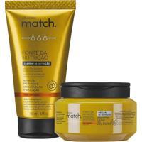 Combo Match Fonte Da Nutrição Fios Grossos: Máscara Capilar + Creme Para Pentear
