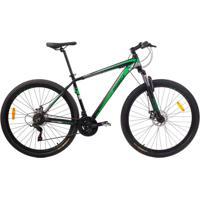 Bicicleta Mobele Mtb Aro 29 21V Alumínio Quadro 17 Câmbio Shimano Rhino Verde