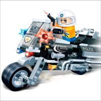 Moto De Policia 140 Peças - Banbao