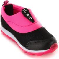 Tênis Infantil Botinho Feminino - Feminino-Preto+Pink