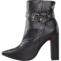 Bota Fivela Week Shoes Rebites Preta