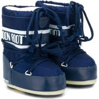 Moon Boot Kids Bota Moon Com Logo - Azul