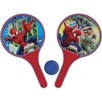 Kit De Frescobol Disney Homem Aranha: 2 Raquetes E 1 Bolinha - Vermelho/Azul