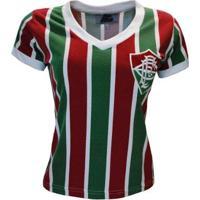 Camisa Liga Retrô Fluminense Mundial 1952 Feminino - Feminino