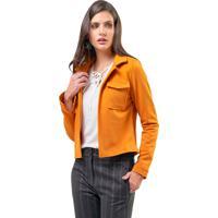 Casaqueto Mx Fashion Com Bolsos Carolyn Mostarda