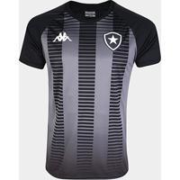 Camisa Kappa Botafogo Torcedor Masculina - Masculino-Preto