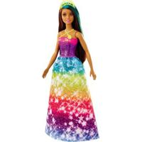 Boneca Barbie - Barbie Dreamtopia - Princesa Morena - Vestido Estrelas - Mattel