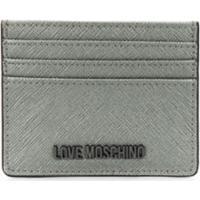 Love Moschino Logo Cardholder Wallet - Prateado