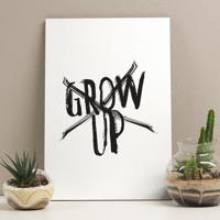 Placa Decorativa - Grow Up