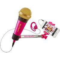 Microfone Selfie Mic Rosa - Estrela