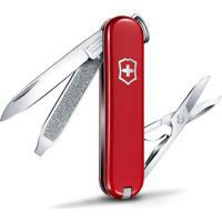 Canivete Classic Sd- Inox & Vermelho- 5,8Cm- Vicvictorinox
