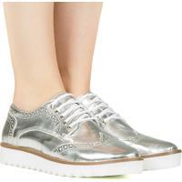 Sapato Oxford Specchio Prata Taquilla