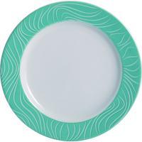 Prato Sobremesa Porcelana Schmidt - Dec. Blue Oak