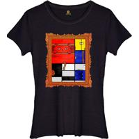 Camiseta Basica Joss Mondrian Cat Preto - Kanui
