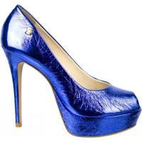 Sapato Peep Toe Loucos E Santos - Feminino-Azul