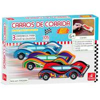 Kit Carrinho Para Pintar Em Madeira - Brincadeira De Criança - 5544 - Multicolorido