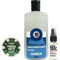 Kit Shampoo 250Ml + Pomada Matte Média 65G - Gambler - Branca - Unissex-Incolor