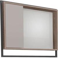 Espelheira Para Banheiro 80Cm Mdf Apoema Nude Com Tamarindo 79,5X70X13,2Cm - Cozimax - Cozimax