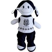 Boneca Mascote Da Ponte Preta - Torcida Baby - Unissex-Branco+Preto