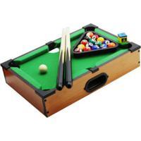 Jogo Mini Bilhar Diament Sinuca Snooker Em Madeira