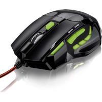 Mouse Óptico Xgamer Multilaser Mo208 Preto E Verde Preto/Verde